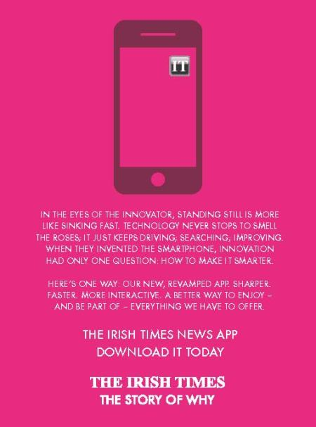 Irish Times App press